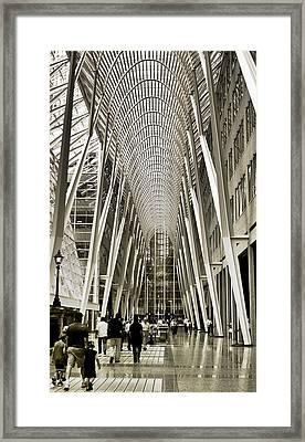 Hockey Hall Of Fame - Galleria Framed Print by Carson Buzdegan