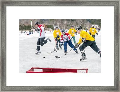 Hockey In Vermont Framed Print by Jim Block