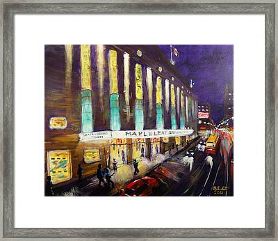 Hockey Night- Maple Leaf Gardens Framed Print by Brent Arlitt