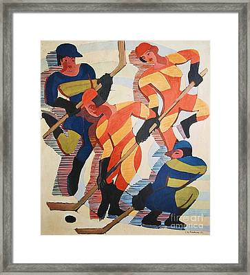 Hockey  Players Framed Print by Pg Reproductions