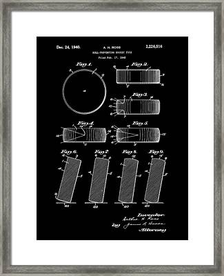 Hockey Puck Patent 1940 - Black Framed Print by Stephen Younts