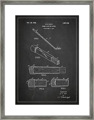 Hockey Stick And Buffer Patent Drawing From 1927 Framed Print