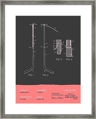 Hockey Stick Patent From 1915 - Gray Salmon Framed Print