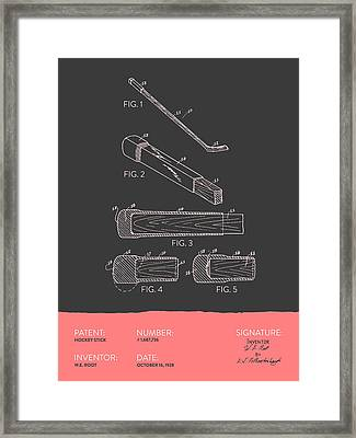 Hockey Stick Patent From 1928 - Gray Salmon Framed Print