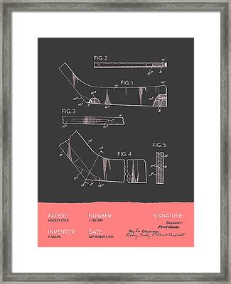 Hockey Stick Patent From 1931 - Gray Salmon Framed Print