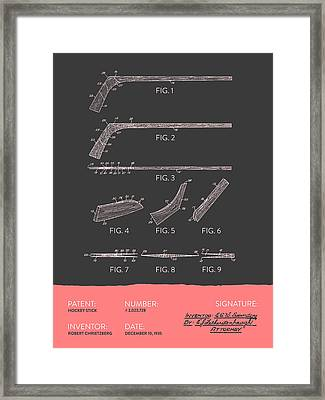 Hockey Stick Patent From 1935 - Gray Salmon Framed Print