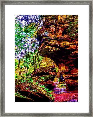 Hocking Hills Sphinx Head Framed Print