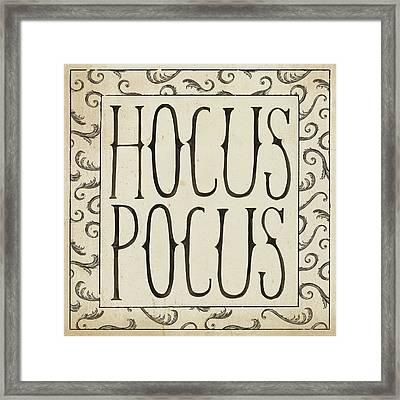 Hocus Pocus Square II Framed Print