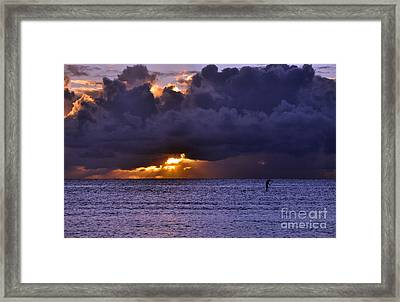 Framed Print featuring the photograph Hoe He'e Nalu by Gina Savage