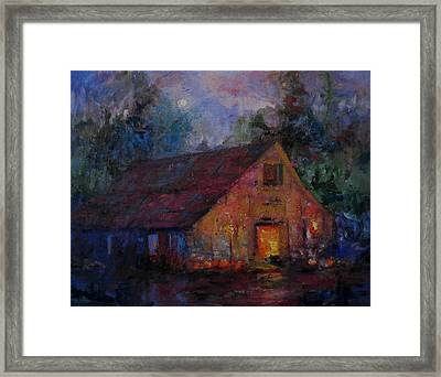 Hoedown At The Old Barn Tonight Framed Print