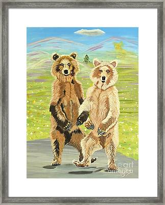 Hoedown On The Tundra Framed Print
