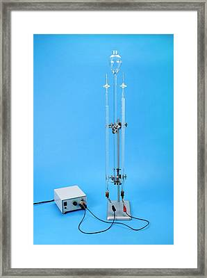 Hofmann Voltameter In Use Framed Print by Trevor Clifford Photography