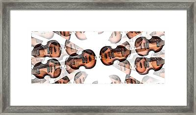 Hofner Bass Abstract Framed Print by Bill Cannon