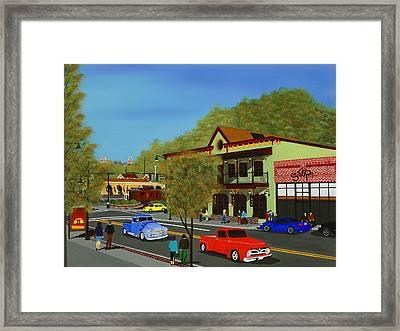 Hog Haus Framed Print