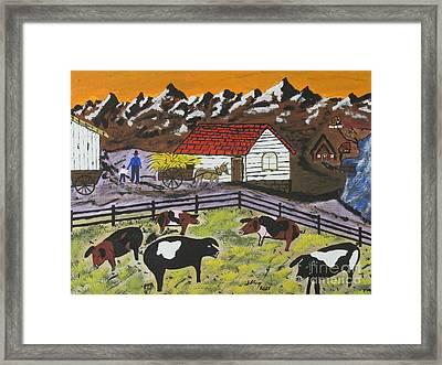 Hog Heaven Farm Framed Print