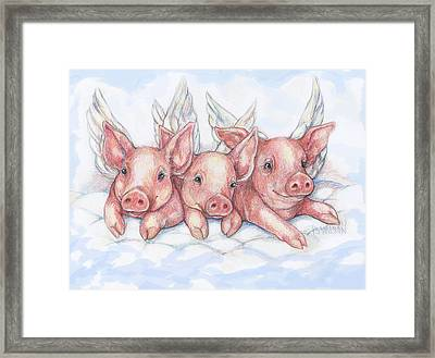 Hog Heaven Framed Print by Peggy Wilson