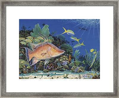 Hog Heaven Re005 Framed Print by Carey Chen