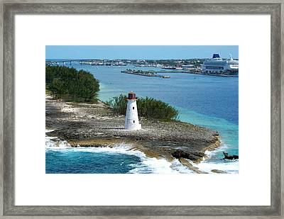 Hog Island Lighthouse 2 Framed Print by Lois Lepisto