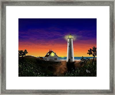 Hog Island Sunrise Framed Print by Patrick Belote