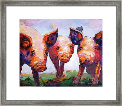 Hog Marketing Board Framed Print by Naomi Gerrard