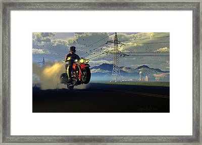 Hog Rider Framed Print by Dieter Carlton