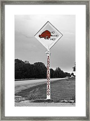 Hog Sign Framed Print by Scott Pellegrin