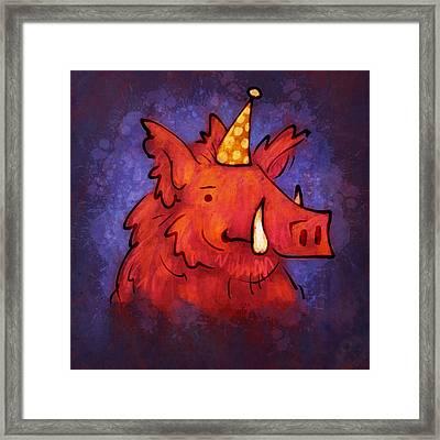 Hog Wild Framed Print