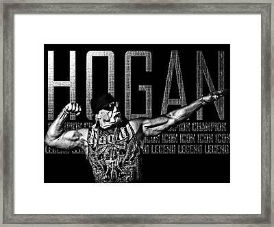 Hogan Tribute By Gbs Framed Print by Anibal Diaz