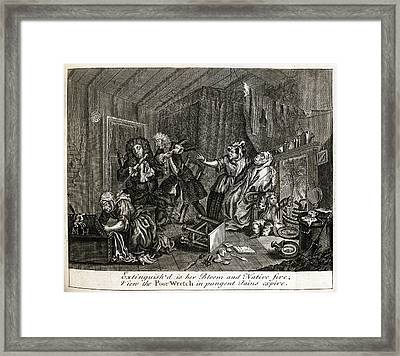 Hogarth On Venereal Disease Framed Print