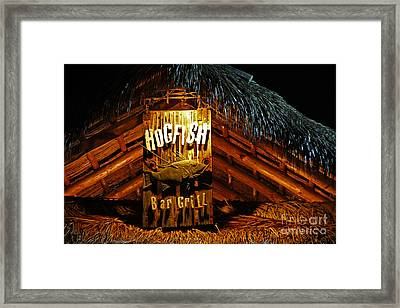 Hogfish Bar Grill Framed Print by Rick Bravo