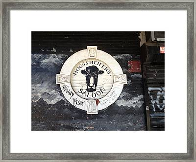 Hogs And Heifers Saloon Sign New York Framed Print