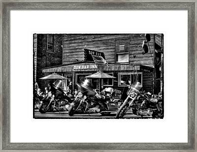 Hogs At The Tow Bar Inn - Old Forge New York Framed Print by David Patterson