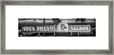 Hog's Breath Saloon 1 Key West - Black And White Framed Print by Ian Monk