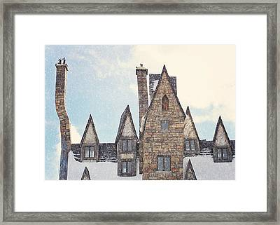 Hogsmeade Architecture Framed Print by Jessie Gould