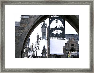 Hogsmeade Sign Framed Print