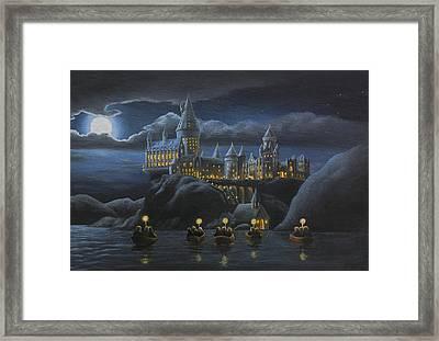 Hogwarts At Night Framed Print