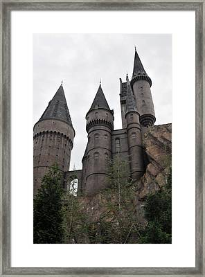 Hogwarts Below Framed Print by Rebecca Parker