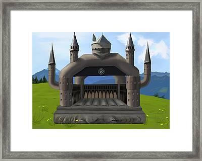 Hogwarts Bouncy Castle Framed Print