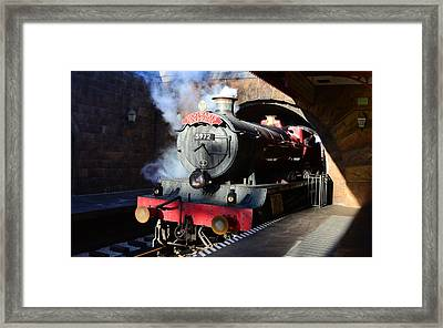 The Hogwarts Express Is Here Framed Print
