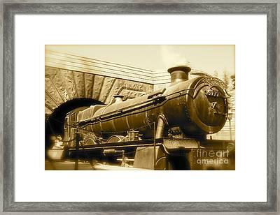 Hogwarts Express Sepia 1 Framed Print
