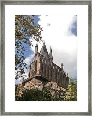 Hogwarts On High Framed Print