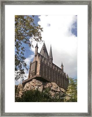 Hogwarts On High Framed Print