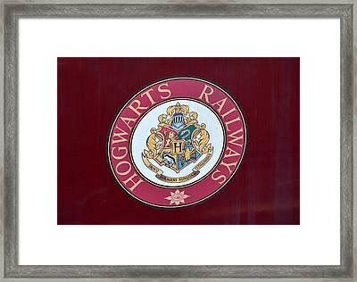 Hogwarts Railways Sign  Framed Print by David Lee Thompson