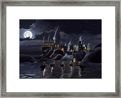 Hogwarts Framed Print by Saskia Ahlbrecht