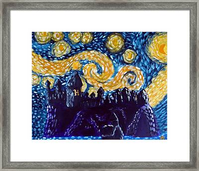 Hogwarts Starry Night Framed Print by Jera Sky