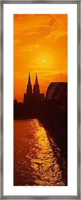 Hohenzollern Bridge, Cologne, Germany Framed Print