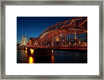 Hohenzollern Bridge Framed Print by Mihai Andritoiu