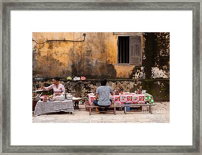 Hoi An Noodle Stall 03 Framed Print by Rick Piper Photography
