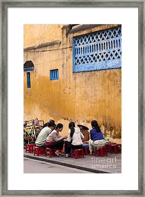 Hoi An Noodle Stall 04 Framed Print by Rick Piper Photography