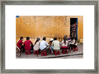 Hoi An Noodle Stall 05 Framed Print by Rick Piper Photography